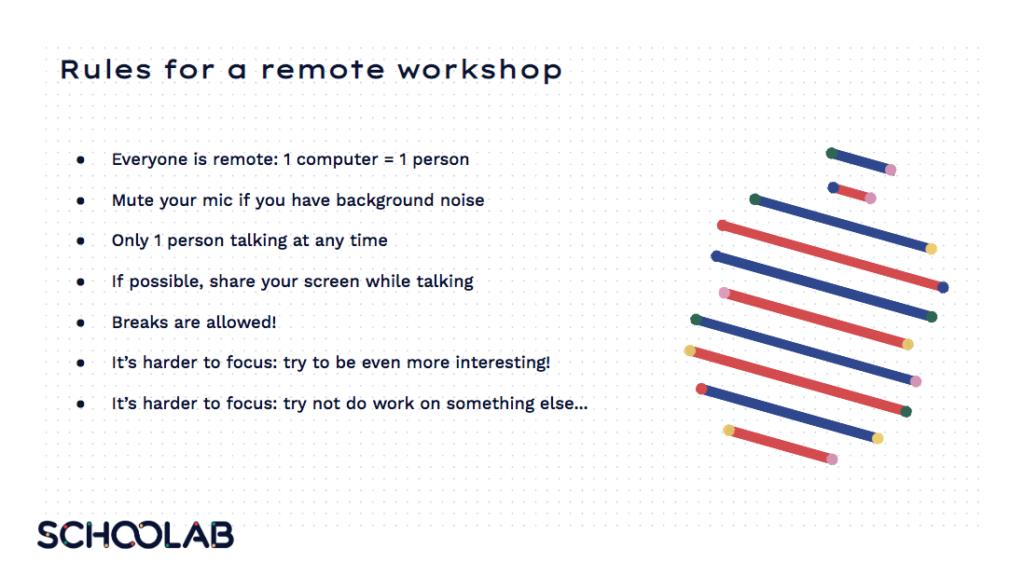 Les règles d'un bon workshop à distance
