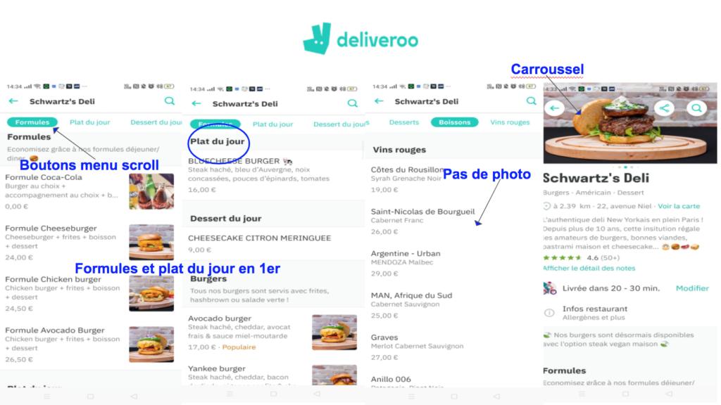Bonnes pratiques de l'app Deliveroo