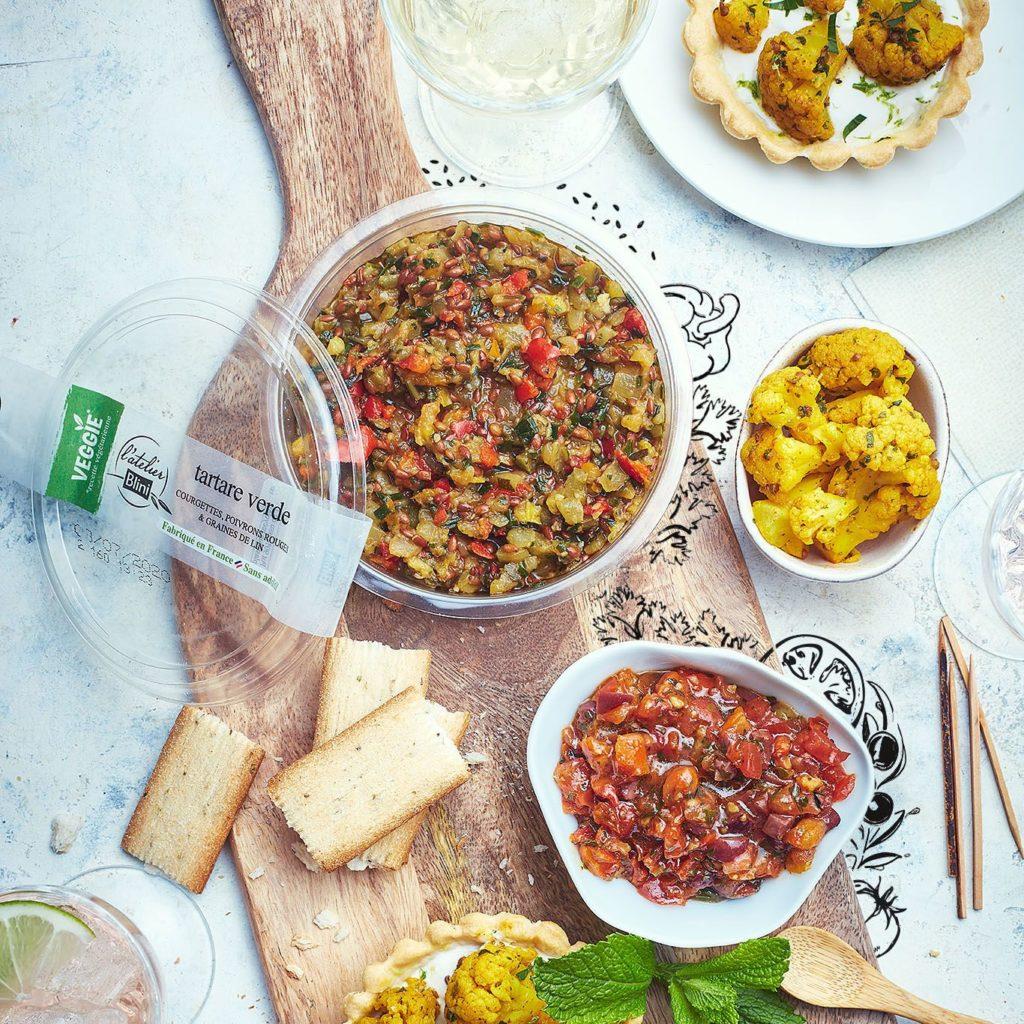 Tartare verde et tartare rosso, 2 produits de cette nouvelle gamme veggie.